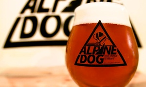 Alpine Dog Brewing Company: $11.50 for $19 Worth of Locally Crafted Beer at Alpine Dog Brewing Company