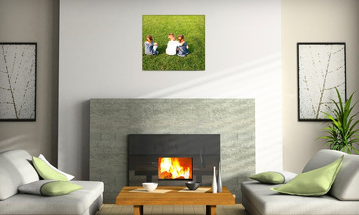 """Modern Canvas - South Central Omaha: $25 for a 16""""x20"""" Personalized Canvas Print from Modern Canvas ($50 Value)"""