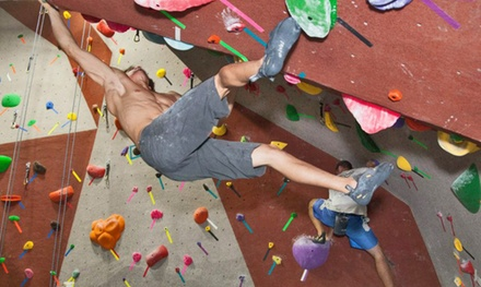 On the Rocks Package for Two or 30-Day Pass for One at Santa Barbara Rock Gym (Up to 56% Off)