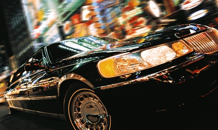 Luxury Airport Trip or Party-Bus Rental from Black Car Sedans (Up to 77% Off). Five Options Available.