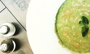 Gnam Natural Soup & Burger: Menu vegetariano di 4 portate e calice di vino per 2 o 4 persone da Gnam Natural Soup & Burger (sconto fino a 67%)