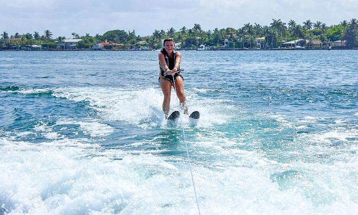 Adventure Watersports - Palm Beach Shores: Water Skiing, Tubing, or Wakeboard Tow Session for One, Two, or Four at Adventure Watersports (Up to 26% Off)