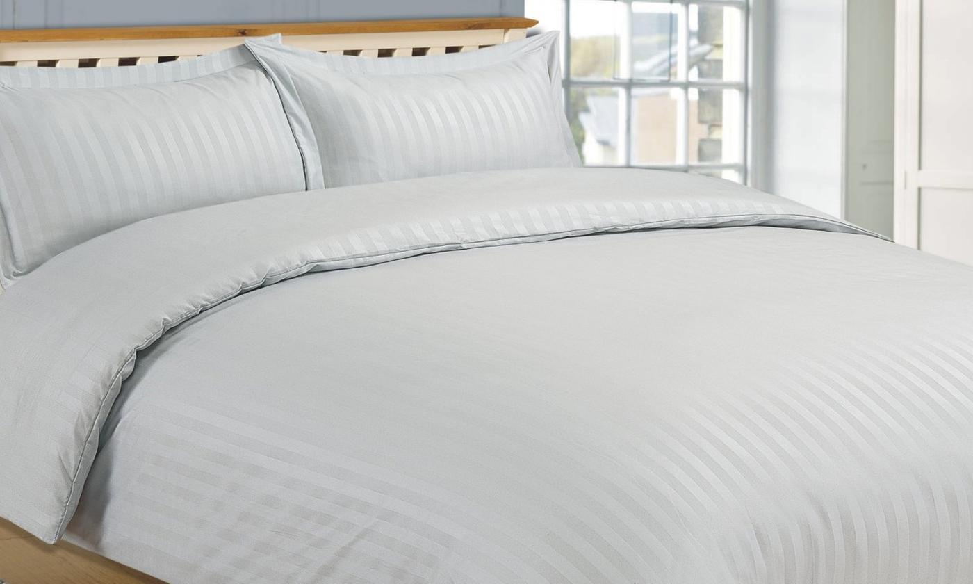 Hotel Stripe Soft-Touch Duvet Cover Set