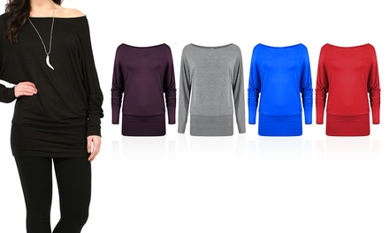 Women's Off Shoulder Batwing Tops for £6.98