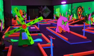 Glowgolf: Glow-in-the-Dark Mini Golf and Optional Laser Maze at Glowgolf (Up to 60% Off). Four Options Available.