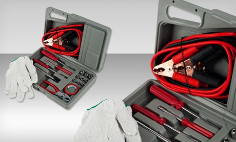 Roadside Emergency Tool-and-Auto Kit (30-Piece)