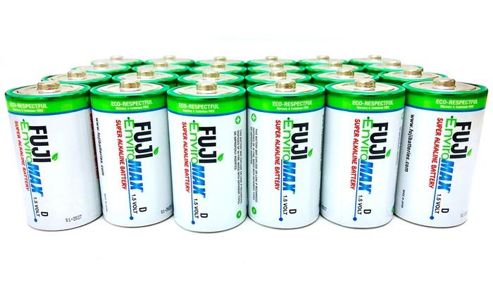 Fuji EnviroMAX Super Alkaline 9 Volt Eco Friendly Batteries Pack of 4