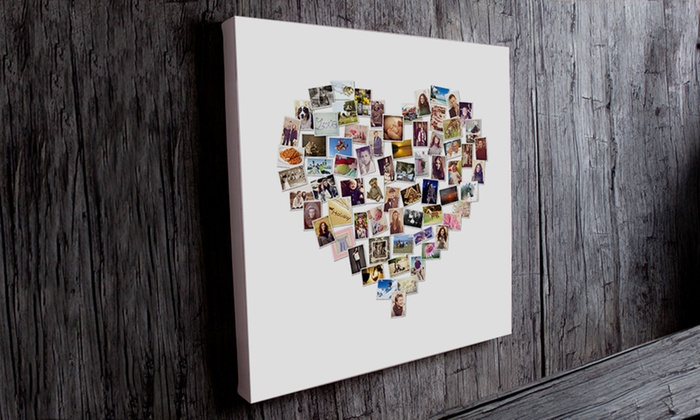 You frame fotocollage groupon goods - Fotocollage auf leinwand ...