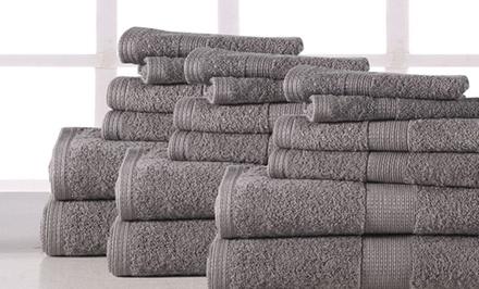 Plush 100% Cotton 600GSM Bath Towel Set (18-Piece)