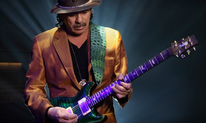 Santana - East Lake-Orient Park: Santana at 1-800-ASK-GARY Amphitheatre on August 26 at 8 p.m. (Up to 48% Off). Two Seating Options Available.