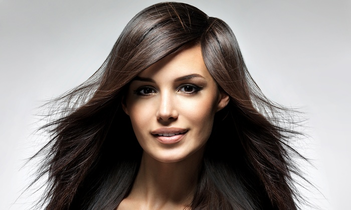 Rometrics Salon-Spa - Westlake: Salon Package with Optional Single-Process Color or Partial or Full Highlights at Rometrics Salon-Spa (Up to 64% Off)