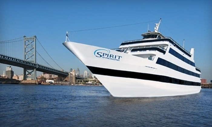 """Entertainment Cruises - Penn's Landing: Three-Hour Dinner Cruise on """"Spirit of Philadelphia"""" from Entertainment Cruises (Up to 52% Off). Two Options Available."""