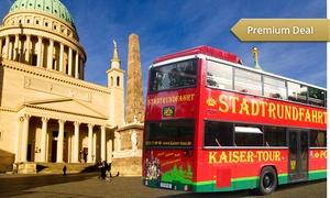 """Kaiser Tour Stadtrundfahrten Potsdam: Rundfahrt und Führung """"Das Beste in Potsdam"""" für 2, 4 oder 6 Personen mit Kaiser Tour Stadtrundfahrten Potsdam ab 20 €"""