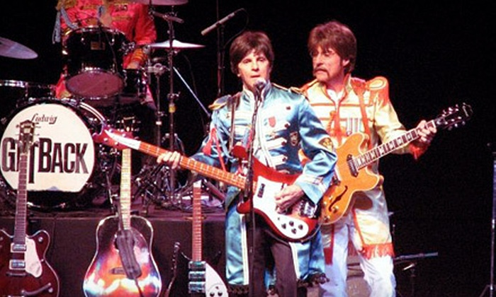 """""""GetBack! Cast of Beatlemania"""" - Rochester: Beatles Tribute Concert at Meadow Brook Music Festival on Saturday, August 25, at 8 p.m. (Up to 52% Off)"""
