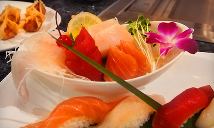 Hana Japanese Steak House and Sushi Bar - Waterbury: $17 for $35 Worth of Sushi and Japanese Cuisine at Hana Japanese Steak House and Sushi Bar in Waterbury