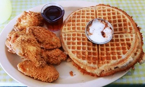 Franks Famous Chicken & Waffles: Soul Food for Lunch or Dinner for Two or Four at Franks Famous Chicken & Waffles (Up to 38% Off)