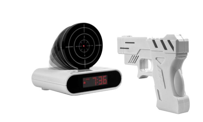 Gun and Target Recordable Alarm Clock: Gun and Target Recordable Alarm Clock