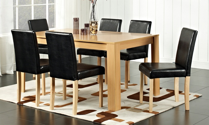 Wooden Dinning Table and Chairs Set from £159.98 With Free Delivery