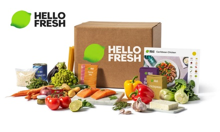 HelloFresh Weekly Subscription with Three or Four Meals for Two or Four from HelloFresh (Up to53% Off)