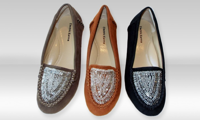 Electric Karma Women's Navajo Moccasins: Electric Karma Women's Navajo Moccasins. Multiple Colors Available. Free Returns.