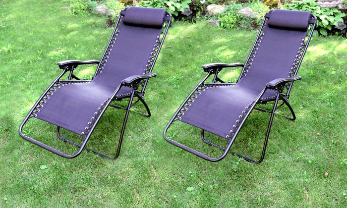 Black Zero Gravity Lounge Chairs (Set Of 2) ...