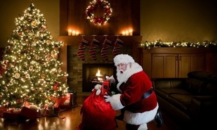 Santa On Camera: $10 for Six Pictures of Santa in Your Home from Santa On Camera ($19.95 Value)