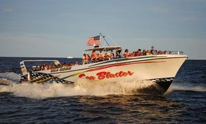 "Destin's Original Sea Blaster Dolphin Tours : 1.5-Hour Dolphin Cruise or 3-Hour Dolphin-Viewing and Snorkeling Cruise from ""Sea Blaster"" (Up to 27% Off)"