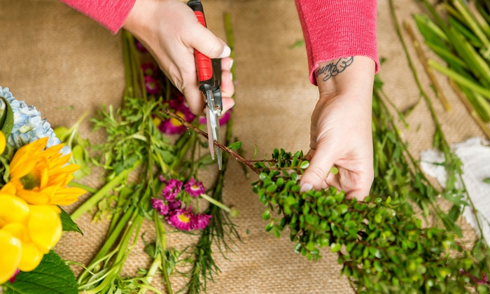Miu Flower School - New York: Flower-Arrangement Lesson for One or Two or an Instructorship Trial Course at Miu Flower School (Up to 70% Off)