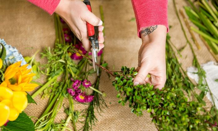 Flower Arrangement Lessons Miu Flower School Groupon