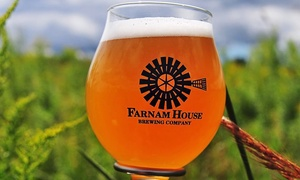 Farnam House Brewing: Dinner for Two or Brewery Experience for Two at Farnam House Brewing (up to 52% Off)