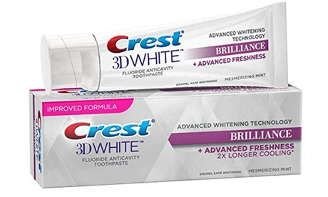 Crest 3D White Brilliance Mint Whitening Toothpaste (2- or 6-Pack); 4.1 Oz.