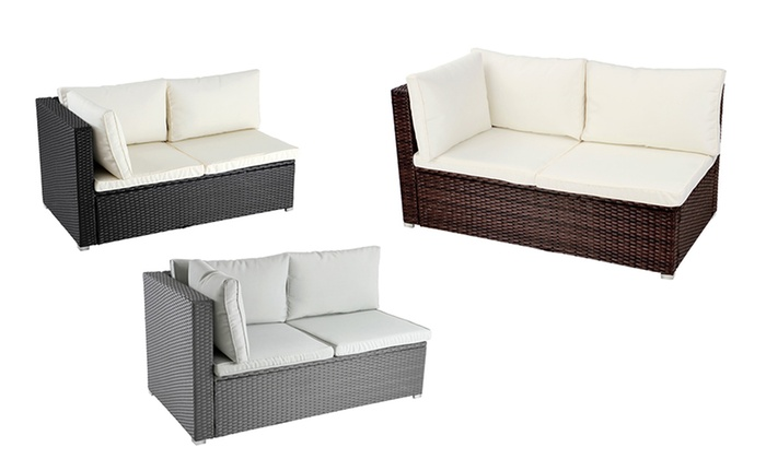 Rattan Corner Sofa  Groupon Goods