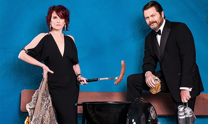 Nick Offerman and Megan Mullally - Revention Music Center (Formerly Bayou Music Center): Nick Offerman and Megan Mullally at Bayou Music Center on Saturday, April 18 (Up to 50% Off)
