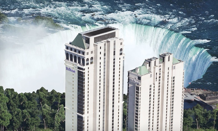 Hilton Hotel and Suites Niagara Falls/Fallsview - Niagara Falls, ON: One-Night Stay for Two with Dining Credit at Hilton Hotel and Suites Niagara Falls/Fallsview in Niagara Falls, ON