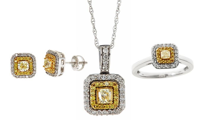 Natural Yellow Diamond Jewelry: Natural Yellow Diamond Jewelry Made with 14-Karat White Gold. Multiple Pieces from $399.99–$699.99. Free Returns.