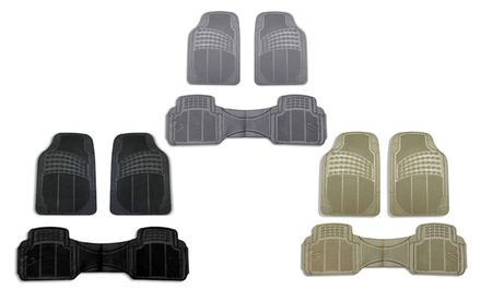 3-Piece Set of Durable Vinyl Floor Mats
