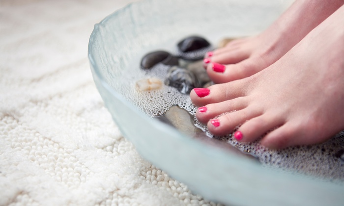 TLP Nails - TLP Nails: One Full Set of Gel Nails With Refill, or Two Full-Service Pedicures at TLP Nails (Up to 56% Off)