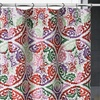 """Delfina Luxa 70""""x72"""" Colorful Fabric Shower Curtain"""