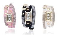 Relojes de cuarzo con dial de madreperla y cristales