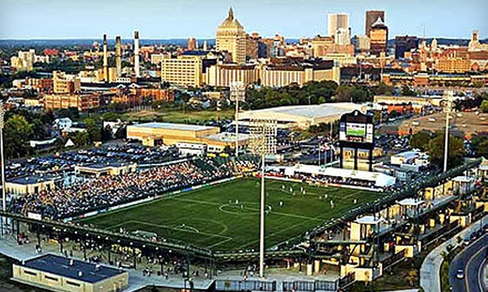 Rochester Rhinos - Brown Square: $36 for Four Premium Tickets to a Rochester Rhinos Soccer Match ($72 Value)