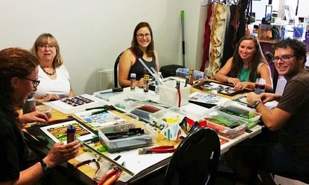 Fused Glass, Bracelet or Jewelry Workshops at The Creating Spot (Up to 46% Off). Five Options Available.