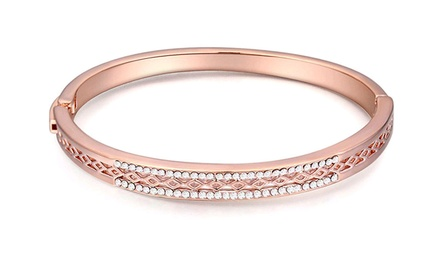 CZ Luxxe Jewelry 18K Gold-Plated Bangle