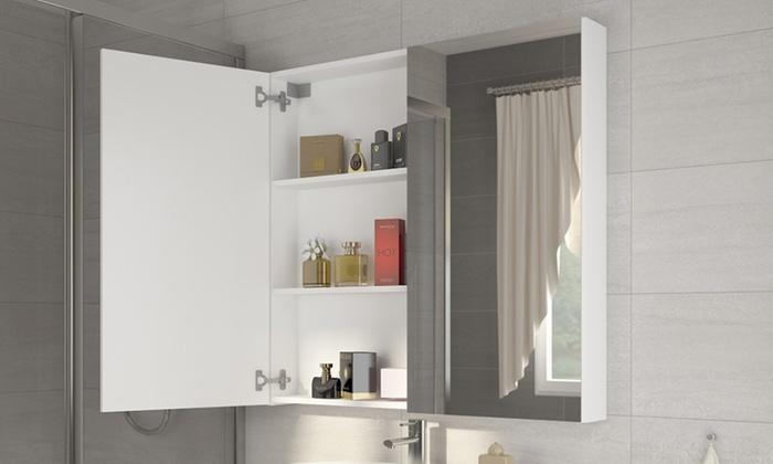 Badkamer Spiegelkast 100cm : Deurs badkamer spiegelkast groupon goods