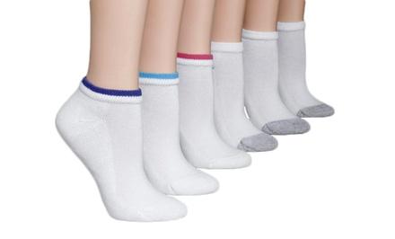 Hanes Women's Cushioned Low-Cut Socks 12-Pack