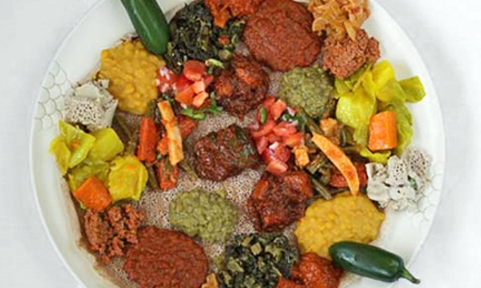 Rahel Ethiopian Vegan Cuisine - Mid-Wilshire: Vegan Ethiopian Food at Rahel Ethiopian Vegan Cuisine (Up to 44% Off). Two Options Available.