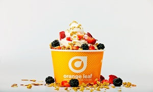 Orange Leaf Coppell - Valley Ranch: One or Three Groupons, Each Good for $10 Worth of Fro-Yo at Orange Leaf (40% Off)