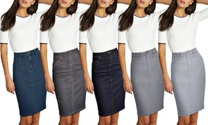 Lexi Women's Stretch Denim Skirt
