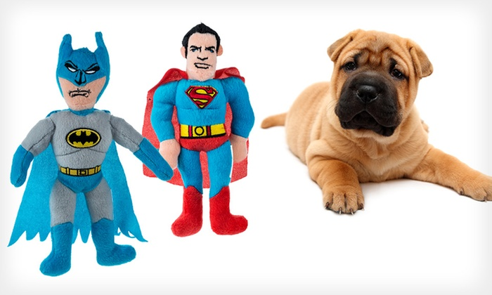 DC Comics Dog Toys: DC Comics Dog Toy (Up to 60% Off). Three Characters and Four Styles Available. Free Returns.