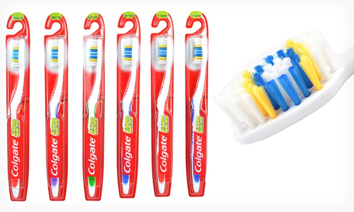 Colgate Extra Clean Toothbrushes: Six-Pack of Colgate Extra Clean Easy-Grip Soft or Medium Toothbrushes (67% Off)