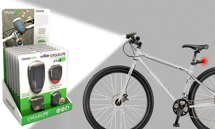 CYCLELITE Solar-Powered Bike-Light Set (2-Piece)